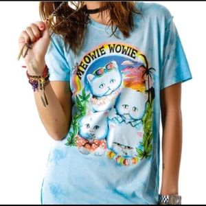 UNIF Rare Meowie  Wowie Blue Weed And Cats  Medium